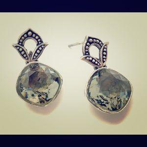 Tribal Boho Earrings - Vintage - Thai Sterling